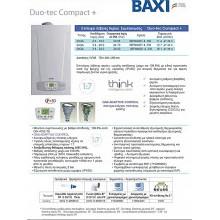 Λέβητας Aερίου Συμπύκνωσης BAXI Duo-tec Compact+ 24GA με Καμινάδα